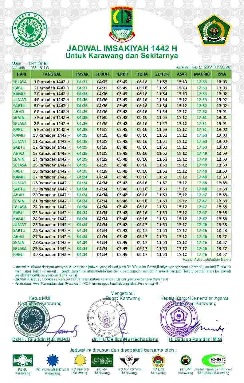Jadwal imsak dan buka puasa Ramadhan hari ke 7
